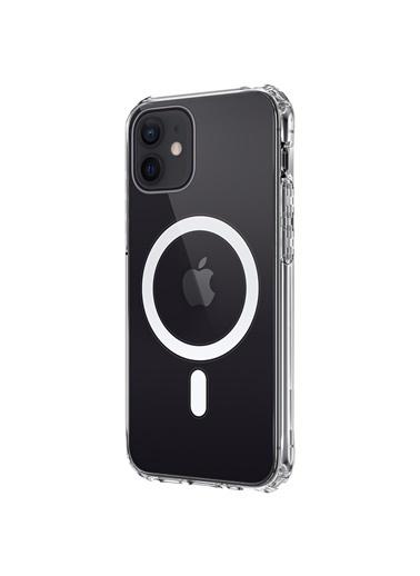 Microsonic Apple iPhone 12 Kılıf MagSafe Clear Soft Renksiz